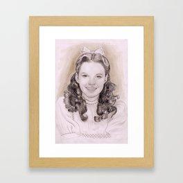 Judy Garland as Dorothy Gale Framed Art Print