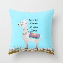 Save the Drama Throw Pillow