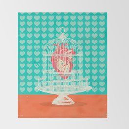 CAGED HEART Throw Blanket