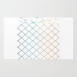 Colored geometric fen Rug