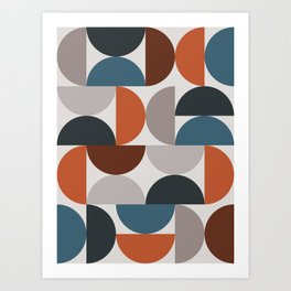 Mid Century Modern Geometric 25 Art Print