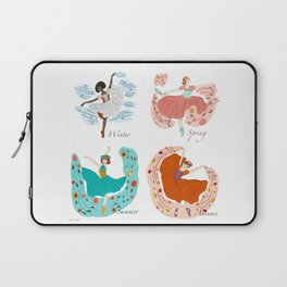 Dance of The Seasons-Winter-Spring-Summer-Autumn  Laptop Sleeve