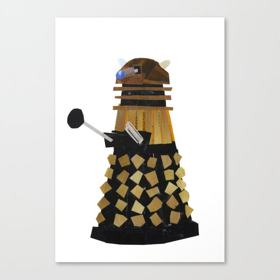 Dalek (Collage) Canvas Print