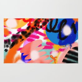 Grell 002 / A Composition Of Abstract Graffiti Shapes Rug