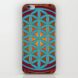 Flower of Life - Fire iPhone Skin