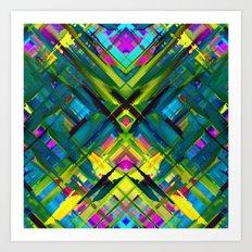 Colorful digital art splashing G467 Art Print