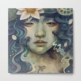 Naiad - Mermaid Metal Print