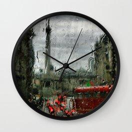 Rainy Days in London Photography Wall Clock