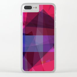 ultraviolet space Clear iPhone Case