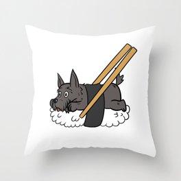 Scottish Terrier Sushi Throw Pillow