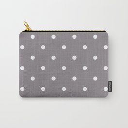 Dots Taupe Carry-All Pouch
