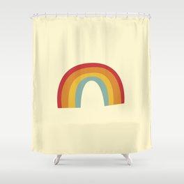 rainbow drawing Shower Curtain