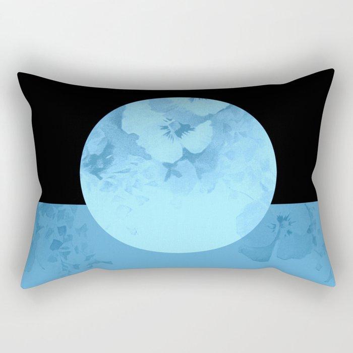 blue moon floral Rectangular Pillow