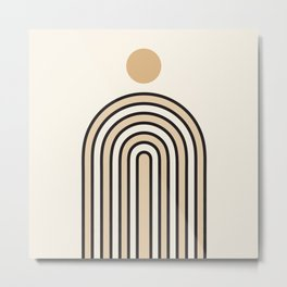 Abstraction_NEW_SUN_SUNLIGHT_LINE_POP_ART_1015A Metal Print