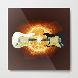 Two Guitars Metal Print