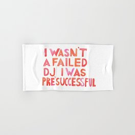 Good Place - I wasn´t a failed DJ Pink and Red Palette Hand & Bath Towel