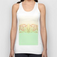 baroque Tank Tops featuring Baroque pattern by mayl4ik
