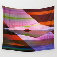 airplane Wall Tapestries featuring Paper Airplane by Laura Santeler