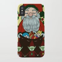 doraemon iPhone & iPod Cases featuring Santa by nu boniglio
