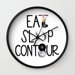 EAT SLEEP CONTOUR Wall Clock