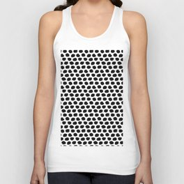 Beehive Black and White Unisex Tank Top