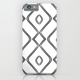 Modern Boho Ogee in Black and White iPhone Case
