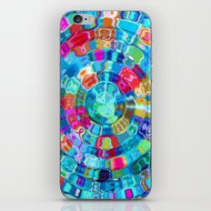 Mosaic Gems Aqua iPhone & iPod Skin