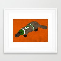 platypus Framed Art Prints featuring Platypus by subpatch