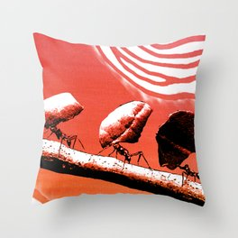 Leaf cutter ants Throw Pillow