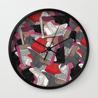 lv Wall Clocks featuring YZY x LV  by RaymondDesignz