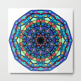 Mandala Beautiful grunge. Metal Print