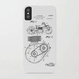 Motorcycle Patent Art iPhone Case
