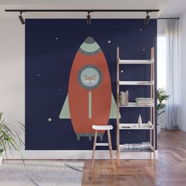 Fox Rocket Wall Mural