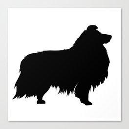 Shetland Sheepdog Silhouette (Sheltie) Canvas Print