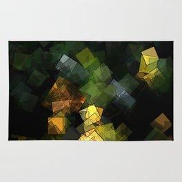 square fantasy autumn colors Rug