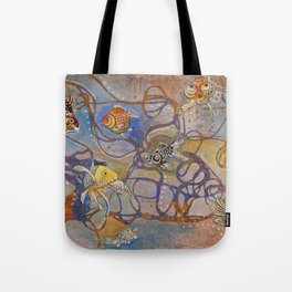 Connecting Goldfishes Tote Bag