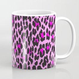 Animal Print, Spotted Leopard - Pink Black Coffee Mug
