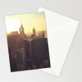 hong kong sundown Stationery Cards