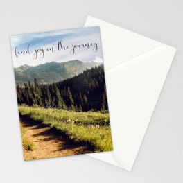 find joy in the journey Stationery Cards