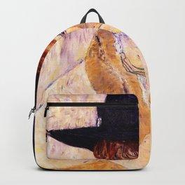 Gustav Klimt - The Black-feathered Hat - Digital Remastered Edition Backpack