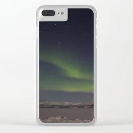 Aurora Borealis Clear iPhone Case