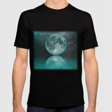 MOON FANTASY Black Mens Fitted Tee X-LARGE
