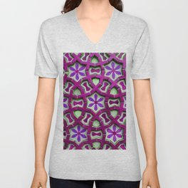 Traditional Moroccan tiles Unisex V-Neck