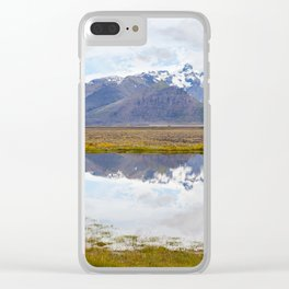 Iceland Mountain Landscape Panorama Clear iPhone Case