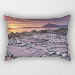 III - Spectacular sunset at the Elgol beach, Isle of Skye, Scotland Rectangular Pillow