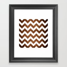 Chevron Wood Framed Art Print