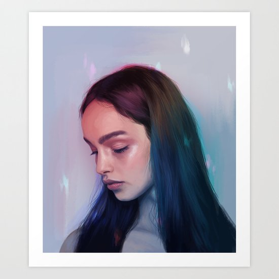 In Rainbows Art Print
