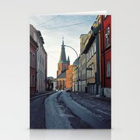 oslo Stationery Cards featuring Oslo street by Lauren Cassidy