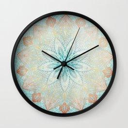 Island Mandala Wall Clock