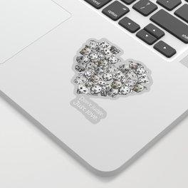 Just Love. (white text) Sticker